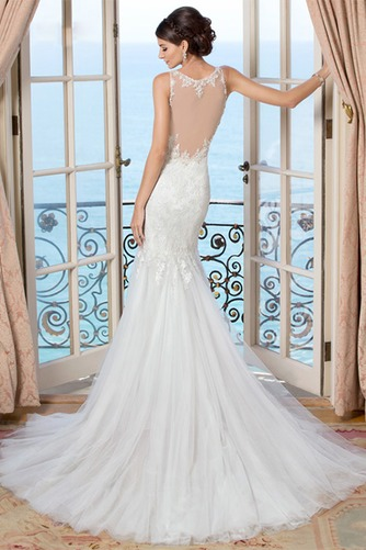 Vestido de novia Encaje Alto cubierto largo Escote en V Sala Natural - Página 2
