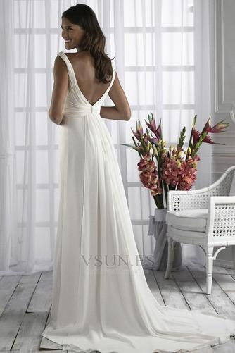 Vestido de novia Diosa vestido de novia Escote en V Plata Imperio Imperio Cintura - Página 2