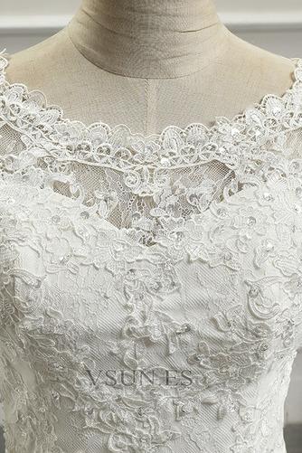 Vestido de novia Botón Playa Espalda Descubierta Corte Recto Cola Capilla - Página 4
