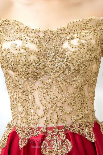 Vestido de cóctel Falta Hasta la Rodilla Natural Glamouroso Satén Escote con Hombros caídos - Página 5