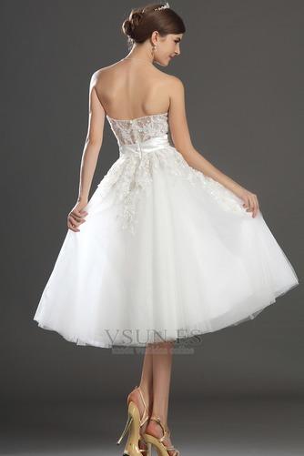 Vestido de novia Romántico tul Blanco Hinchado Abalorio Natural - Página 6
