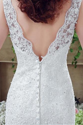 Vestido de novia Triángulo Invertido Natural Fuera de casa Barco Espalda Descubierta - Página 6