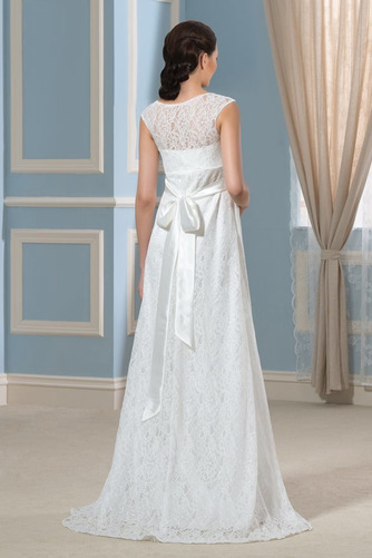 Vestido de novia Imperio Cola Barriba Moderno Escote redondo Encaje - Página 3