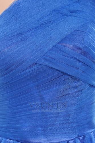Vestido de noche Natural Espalda medio descubierto Un sólo hombro Blusa plisada - Página 6