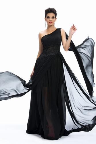 Vestido de noche Gasa Natural Elegante Reloj de Arena Corte-A Dobladillos - Página 3