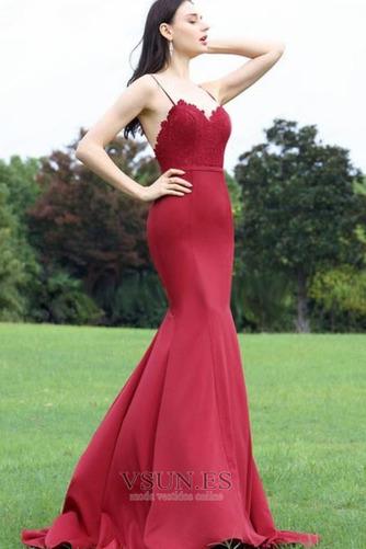 Vestido de noche Corte Sirena Capa de encaje Escote de Tirantes Espaguetis - Página 2