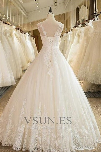 Vestido de novia Falta Iglesia Hasta el suelo Encaje Corte princesa - Página 2