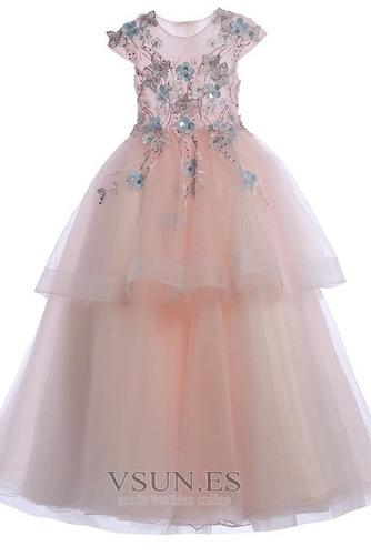 Vestido niña ceremonia Joya Natural Falta Formal Cremallera Apliques - Página 6