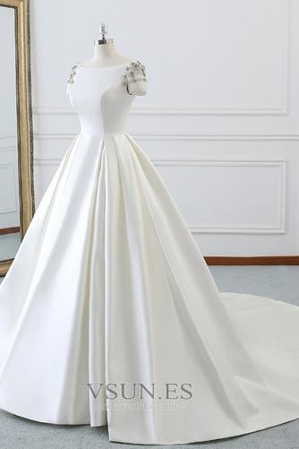 Vestido de novia Iglesia Natural primavera Falta Espalda Descubierta - Página 3