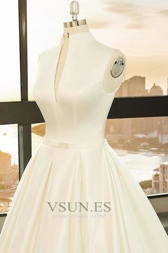Vestido de novia Playa Escote en V Arco Acentuado Corte-A Cremallera - Página 3