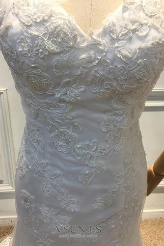 Vestido de novia Otoño Sin mangas Fuera de casa Encaje Natural Abalorio - Página 5
