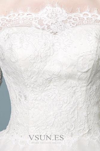 Vestido de novia Elegante Mangas Illusion Falta Capa de encaje Cordón - Página 5