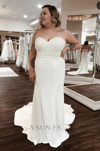 Vestido de novia Playa Cremallera Rectángulo Drapeado Satén Escote Corazón - Página 1