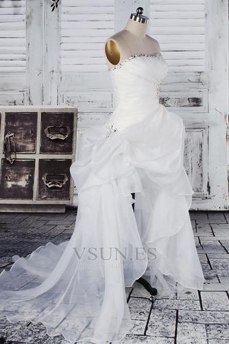 Vestido de novia Fuera de casa Exclusivo Plisado Asimétrico Dobladillo - Página 2