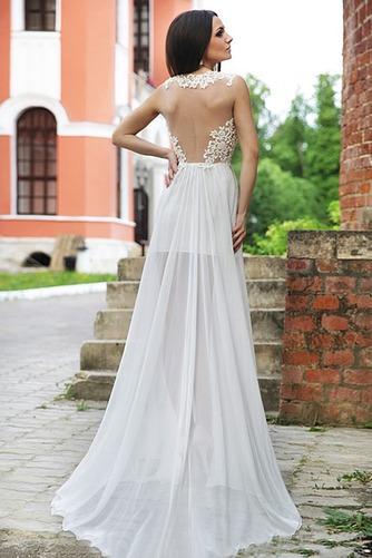 Vestido de novia Sin mangas largo Apliques Fuera de casa Escote en V - Página 2