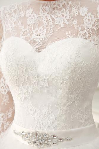 Vestido de novia Clasicos Otoño Asimètrico Cristal largo Cremallera - Página 6