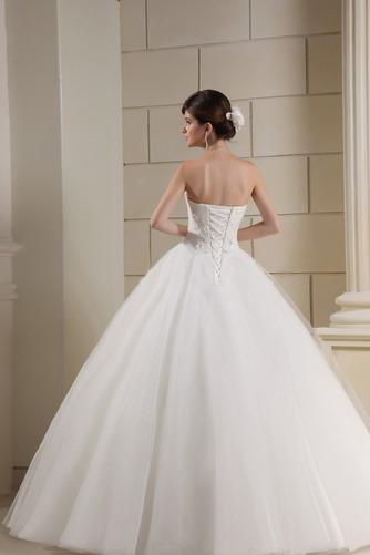 Vestido de novia Corte princesa Escote Corazón Elegante Cordón Apliques - Página 4
