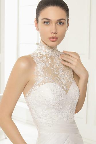 Vestido de novia primavera Cola Capilla Natural Cremallera Escalonado - Página 3