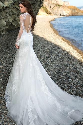 Vestido de novia Encaje Otoño Corte Sirena Escote con cuello Alto Encaje - Página 2