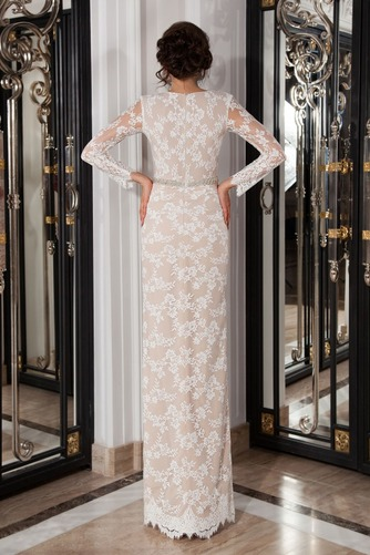 Vestido de novia Manga larga Encaje Natural largo Cristal Cremallera - Página 2