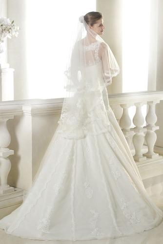 Vestido de novia Pura espalda Apliques Corte-A Encaje Cintura Baja largo - Página 2