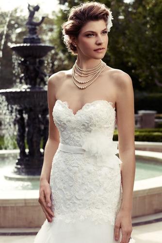 Vestido de novia Corte Sirena Apliques Escote Corazón Natural largo - Página 3