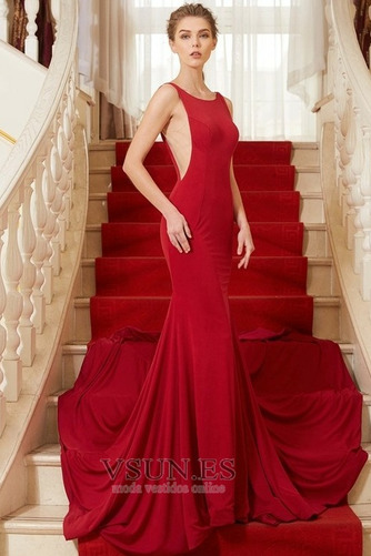 Vestido de noche Elegante Corte-A Cola Corte Natural Escote con Hombros caídos - Página 1