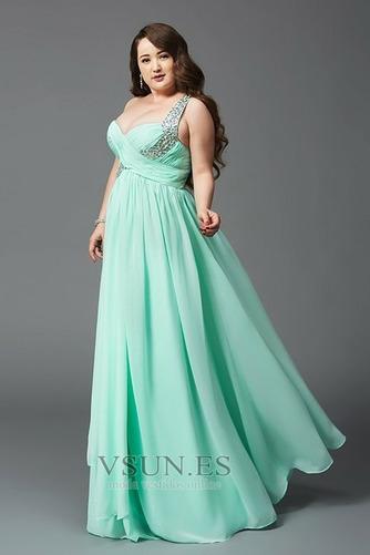 Vestido de noche Elegante Hasta el suelo Drapeado Blusa plisada Natural - Página 6