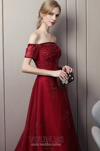 Vestido de noche Cola Barriba Otoño Abalorio Natural Colores Cordón - Página 4