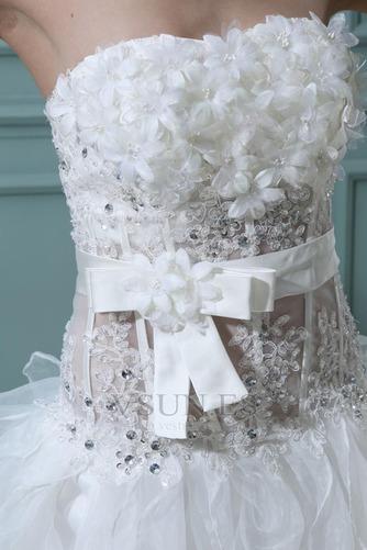 Vestido de novia Sin tirantes Manzana Asimétrico Dobladillo Cintura Baja - Página 6