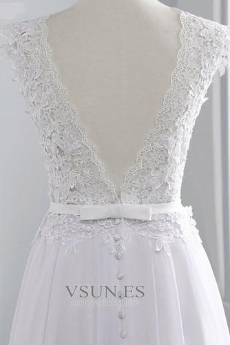 Vestido de novia Encaje Hasta el suelo Joya Fuera de casa Verano Natural - Página 5