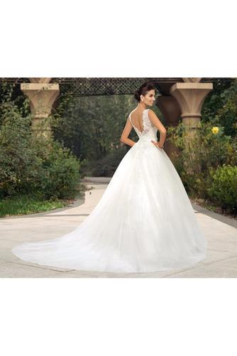 Vestido de novia largo Triángulo Invertido Sala Cinturón de cuentas - Página 3