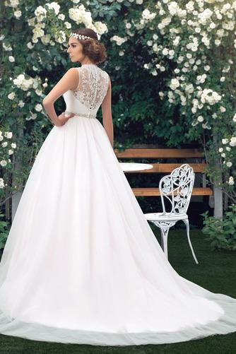 Vestido de novia Elegante Cola Capilla Pura espalda Natural Sin mangas - Página 2