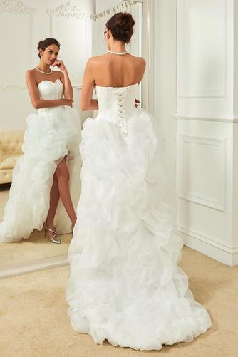 Vestido de novia Elegante Cola Capilla Triángulo Invertido Natural Satén - Página 2