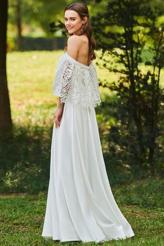Vestido de novia Apliques Encaje Escote con Hombros caídos Tallas pequeñas - Página 3