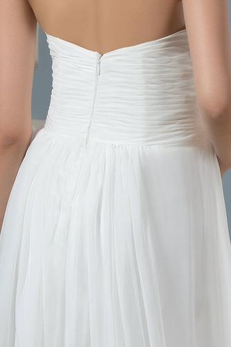 Vestido de novia Imperio Sencillo Gasa Otoño Cola Barriba Plisado - Página 4