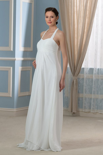 Vestido de novia Sin mangas Hasta el suelo Tallas grandes Drapeado Blusa plisada - Página 2