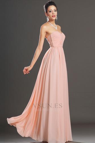 Vestido de noche elegante pequeñas Sin mangas Natural Corte-A Cremallera - Página 5