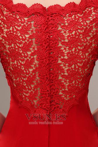 Vestido de novia Corte Sirena Capa de encaje Camiseta Natural Satén Elástico - Página 5