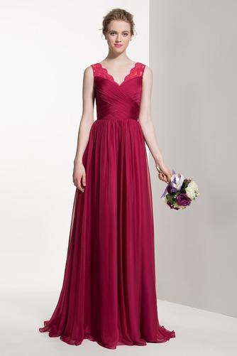 Vestido de dama de honor Verano Apliques Manzana Gasa Cola Barriba Elegante - Página 1