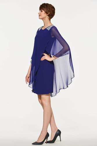 Vestido de madrina primavera Moderno Triángulo Invertido Natural Gasa - Página 3