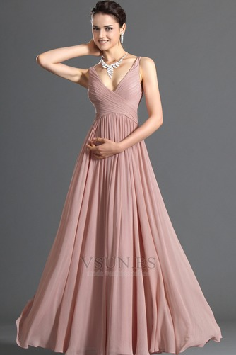 Vestido de noche Blusa plisada Plisado Cremallera Corte-A Sin mangas - Página 2
