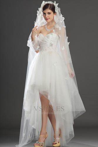 Vestido de novia Escote Corazón Apertura Frontal Asimétrico Dobladillo - Página 7
