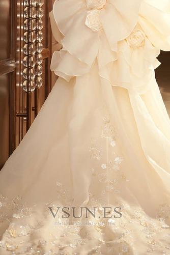 Vestido de novia Abalorio Sin mangas Tiras anchas Alto Bajo Cremallera - Página 6