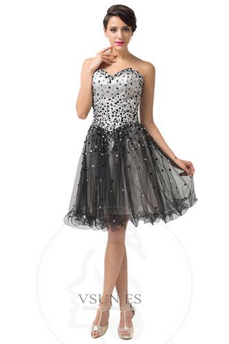 Vestido de graduacion primavera Cristal Escote Corazón Natural tul Cordón - Página 1