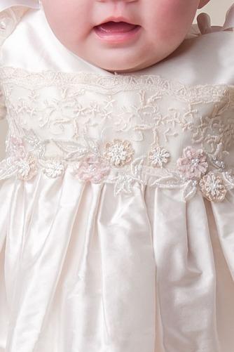 Vestido de Bautizo Joya Hasta el suelo Satén Alto cubierto Corte princesa - Página 2