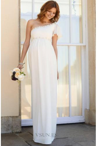Vestido de novia Embarazadas Asimétrico Estilo Hasta el suelo Fuera de casa - Página 1