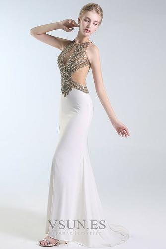 Vestido de fiesta Falta Verano Hasta el suelo Cristal Pura espalda Joya - Página 4