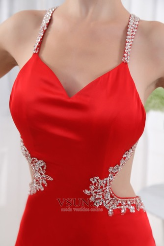 Vestido de fiesta Corte Sirena Espalda Descubierta Escote halter Moderno - Página 5