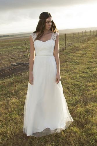 Vestido de novia Corte-A Apliques largo Natural Verano Playa - Página 1